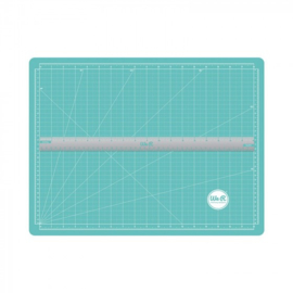 scallopes magnetic cutting mat & ruler