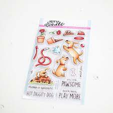 hot diggity dog clear stamps