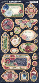 blossom collection chipboard