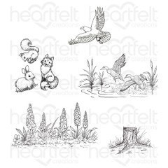 create  scape nature cling stamps HCPC 3896