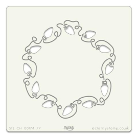 "fairy lights wreath  106   7""x7"""