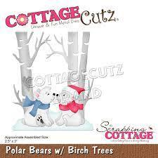 polar bears w/birch trees