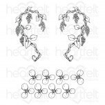 wisteria petals cling stamp set