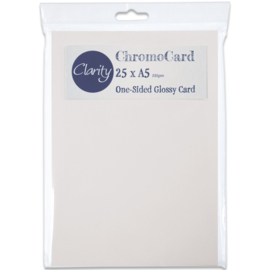 chromo card one sided glossy card 25 stuks