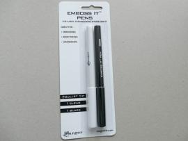 emboss it pens 1 zwart en een clear