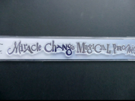 word chain miracle, change,magical,promise-a