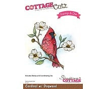 cardinal with dogwood stempel plus dies