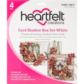 card shadow box set white