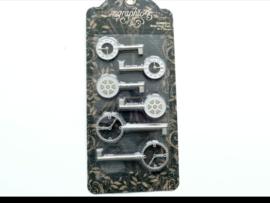 zilverkleurig clock keys
