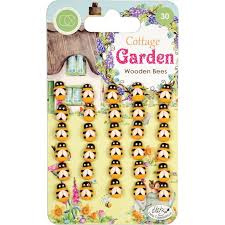 cottage garden wooden bees