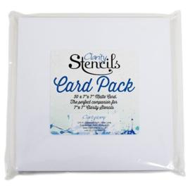 """STENCIL CARD 7""""X7"""""""