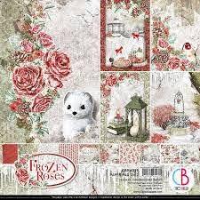 "frozen roses paper pad 12""x12"""