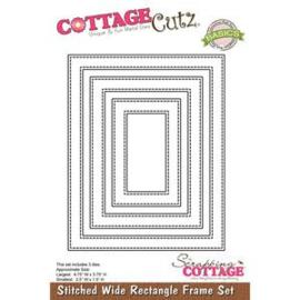 stitched wide rectangle frame set