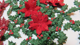 3D Christmas poinsettia shaping mold