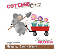 mouse with garden wagen