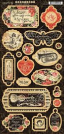 chipboard love notes collection