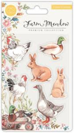 animals  meadow clear stamps