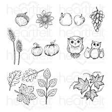 autumn wreath accents cling stam set