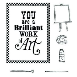 brilliant work of art stamp and mask kit 147