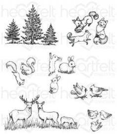woodsy critters stempelset