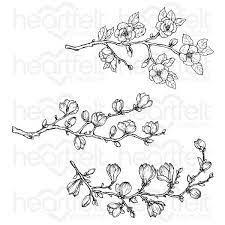 sweet magnolia buds cling stamp set