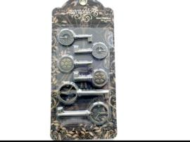 koper kleurig clock keys