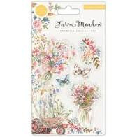 florals clear stamps