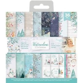 water colour Christmas paper pad