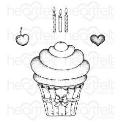 suparspun cupcake cling stamp set