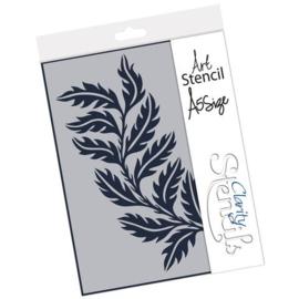 leafy strip stencil