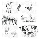 happy meadows cling stamp set