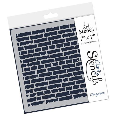 """brick wall stencil 7""""x7"""""""