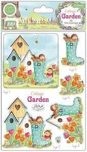 cottage garden 3 D decoupage