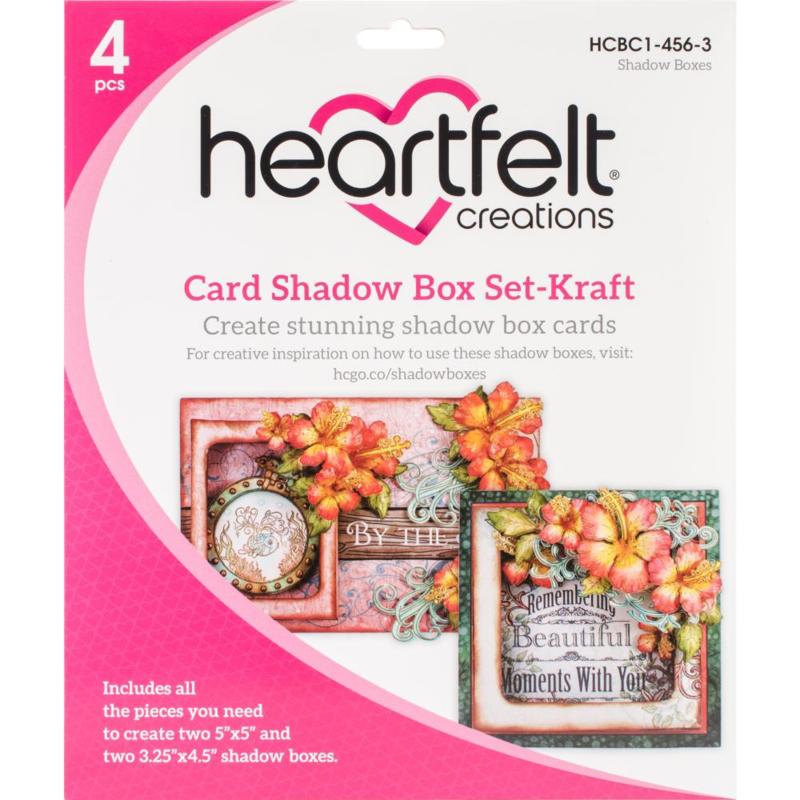 card shadow box set kraft