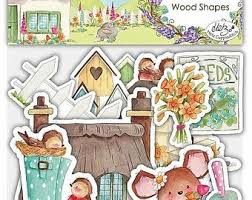 garden wooden shapes