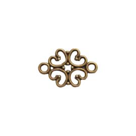 Tussenstuk bohemian flower brons