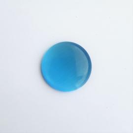 Glascabochon cateye aquablauw