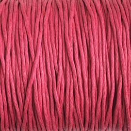Waxdraad roze - 1mm