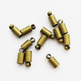 Metalen eindkapje brons - ca. 3x8mm