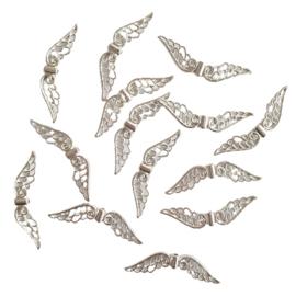 Kraal vleugels zilver