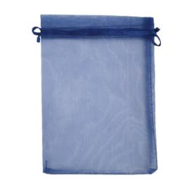 Organza kadozakje large donkerblauw