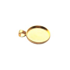 Setting / hanger goud voor 20mm cabochon