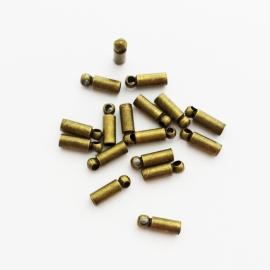Metalen eindkapje brons - ca. 2x8mm