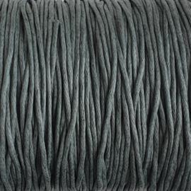Waxdraad grijsblauw - 1mm