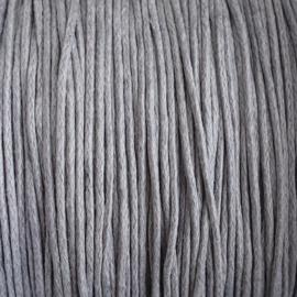 Waxdraad lichtgrijs - 1mm