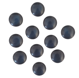 Resin cabochon cateye donkerblauw