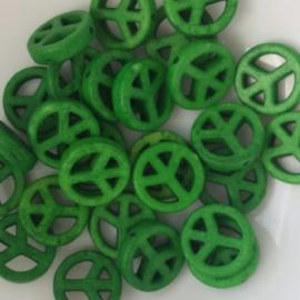 Peace kraal groen - 15mm