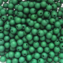Acryl kraal mat groen - ca. 6mm