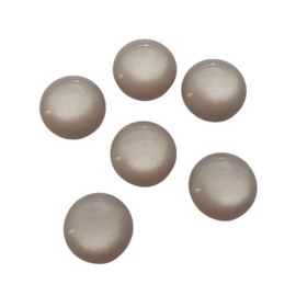 Polaris cabochon shiny taupegrey - 12mm