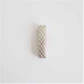 Schuifkraal staafje voor plat leer 10mm